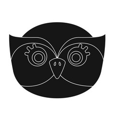 Owl muzzle icon in black style isolated on white vector