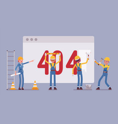 Page with 404 error code under construction vector
