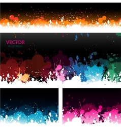Paint splat banners background vector