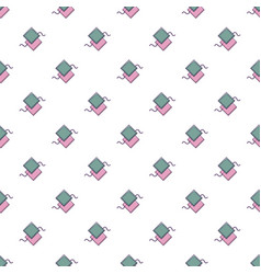 Pattern for sewing pattern seamless vector