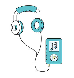 portable media player cartoon vector image