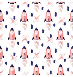 Rocket pattern background vector