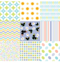 Seamless pattern easter set vector