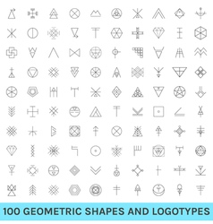 Set of 100 geometric hipster shapes12 vector