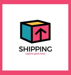 shipping box logo vector image