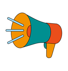 speaking megaphone icon vector image
