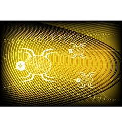 Spider Technology Yellow Background vector image