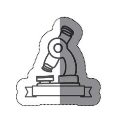 sticker silhouette monochrome of microscope tool vector image