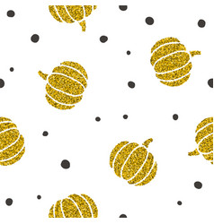 stylish golden pumpkins background vector image