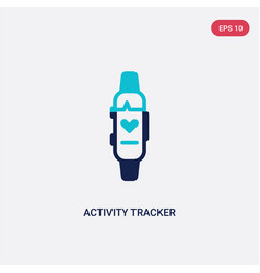 Two color activity tracker icon from electronic vector