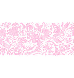 Vintage floral baroque seamless border with vector