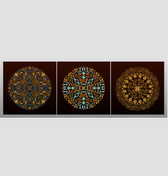 vintage luxury decorative design of golden mandala vector image