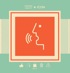 voice control person talking - icon vector image
