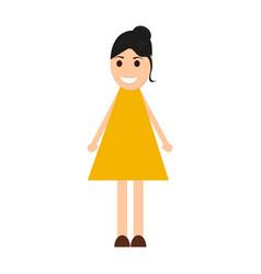 young woman cartoon vector image