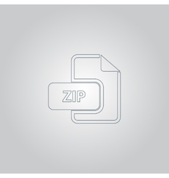 ZIP archive file extension icon vector image