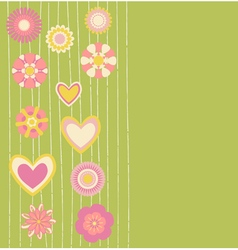 cute flowers vector image vector image