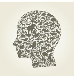 Head an animal vector image
