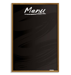 Menu blackboard vector