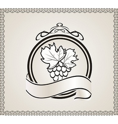 retro label for packing wine vector image vector image