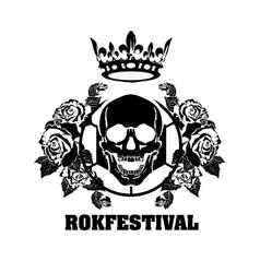 Skull roses and Karon vector image