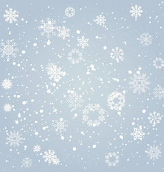 snowflakes falling from the sky vector image