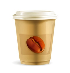 Coffee paper cup vector