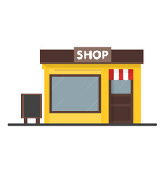 facade shop store icon with signboard template vector image