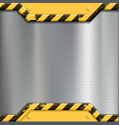 industrial metal background construction vector image vector image