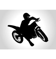 Motocrosser vector image