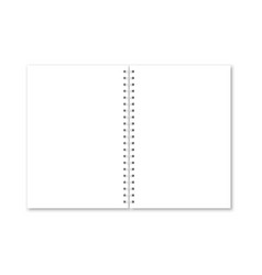 realistic opened notebook cover vector image