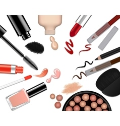 set of different make-up vector image