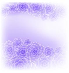 beautiful purple rose flower background vector image vector image