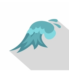 Clear wave icon cartoon style vector image vector image