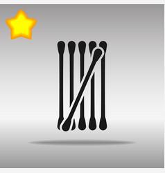 cotton buds black icon button logo symbol vector image