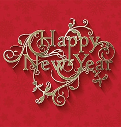 decorative new year background 2811 vector image vector image