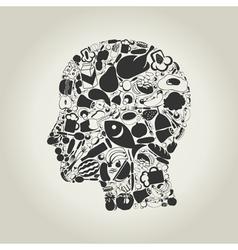Head food vector image vector image