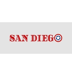 San Diego city name with flag colors vector image