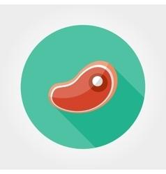 Steak icon Flat vector image