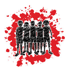 stop child abuse group of children hugging vector image