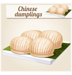 Chinese dumplings Detailed Icon vector image