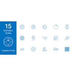 15 competition icons vector