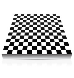 3d empty abstract chessboard vector image
