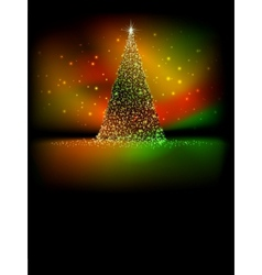 Abstract golden christmas tree EPS 10 vector image