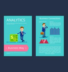 Analytics business way on vector