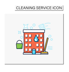 Apartment cleaning color icon vector