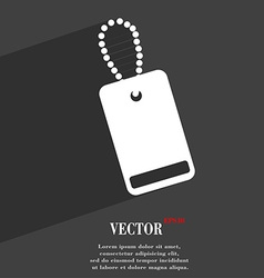 Army chains icon symbol flat modern web design vector