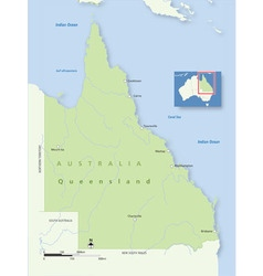Australia Queensland vector