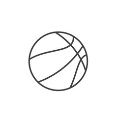 basketball ball outline concept icon vector image