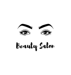 Beauty Salon Badge The Women s Eyes Eyelashes vector image