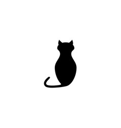 Black of cat of the animal icon vector
